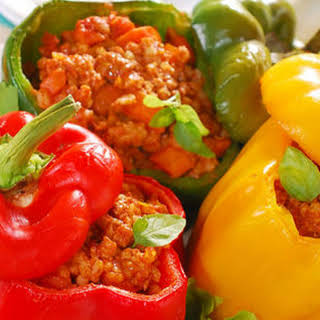 Meat-Stuffed Peppers.