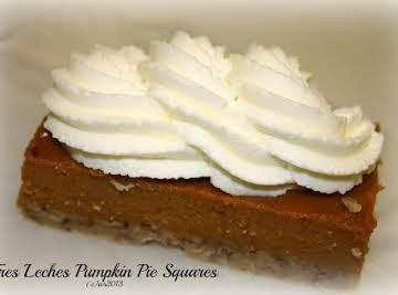 Tres Leches Pumpkin Pie Squares