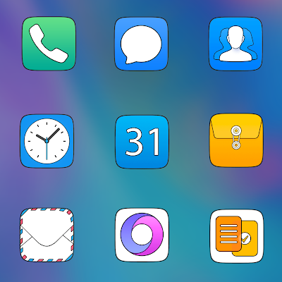 EMUI CARBON - ICON PACK Screenshot Image
