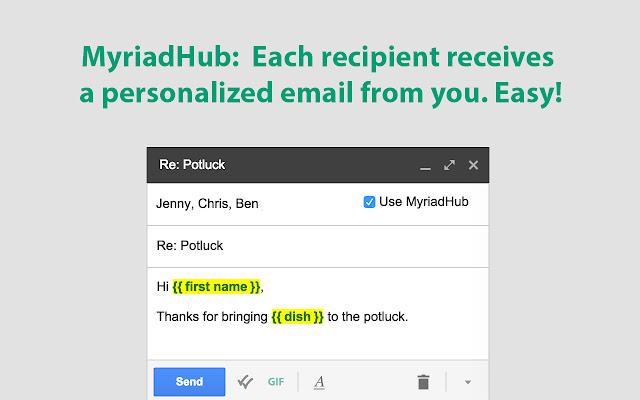 MyriadHub: Mail Merge, Templates, Tracking