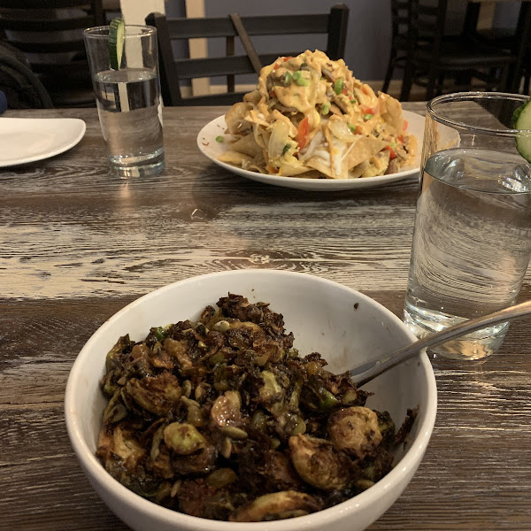 Brussel Sprouts and Brunch Nachos