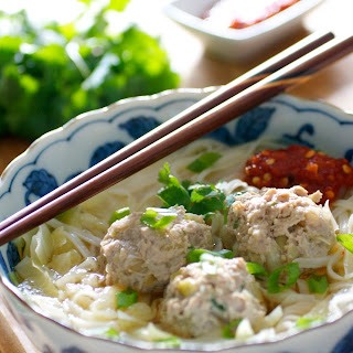 Asian Meatball Noodle Soup Recipe