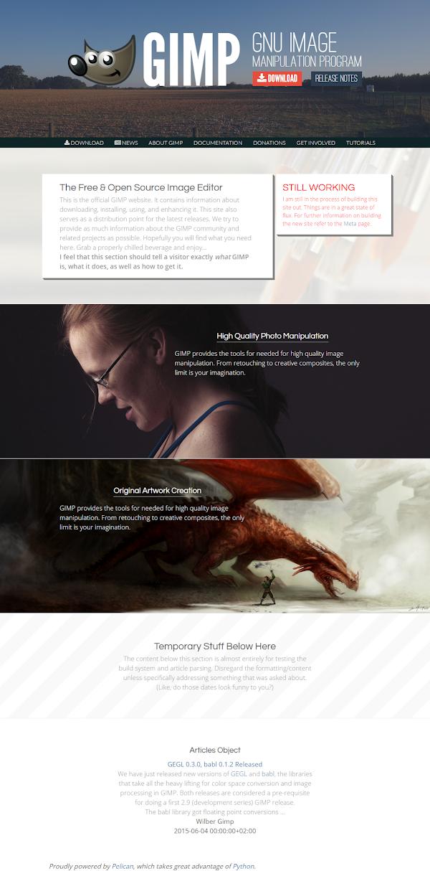 static GIMP page