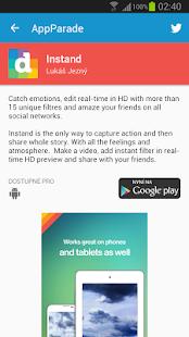 AppParade - screenshot thumbnail