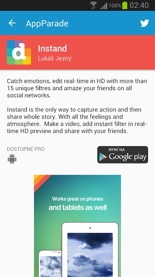 AppParade - screenshot