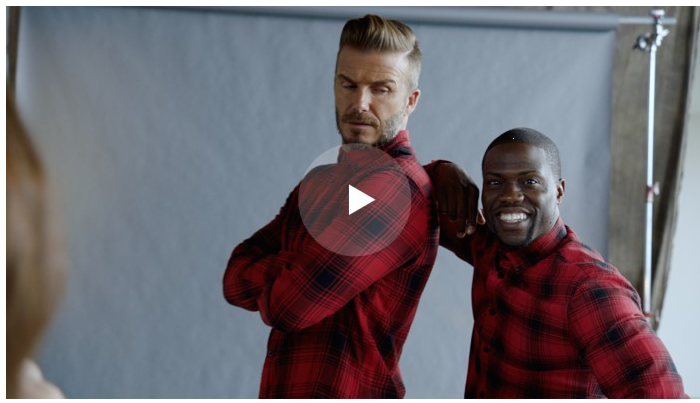 Watch the new H&M trailer featuring David Beckham and comedian Kevin Hart