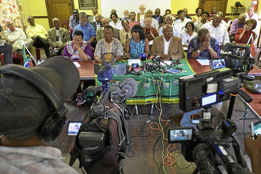 Falling short: ANC veterans such as, from left, Sheila Sisulu, Frank Chikane, Cheryl Carolus, Murphy Morobe and Wally Serote who oppose President Jacob Zuma's reign, should have lobbied MPs who will decide Zuma's fate in the vote of no confidence. Picture: THE TIMES