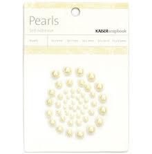 Kaisercraft Self-Adhesive Pearls 50/Pkg - Champagne