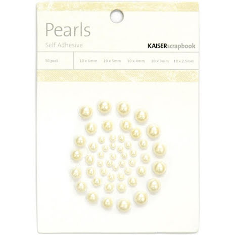 Kaisercraft Self-Adhesive Pearls 50/Pkg - Champagne