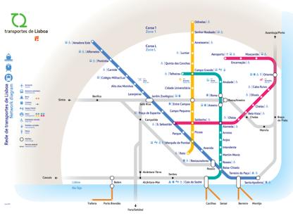 Lisboa Subway Map