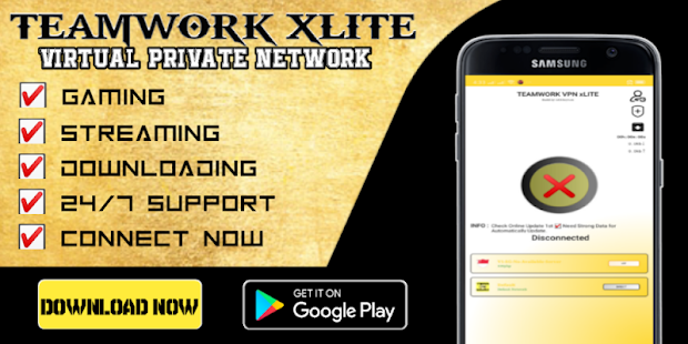 TEAMWORK VPN xLITE - Fast & Secured for PC-Windows 7,8,10 and Mac apk screenshot 1