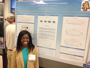 Photo: Doctoral student Jessye Bemley at 2014 COE Poster Competition