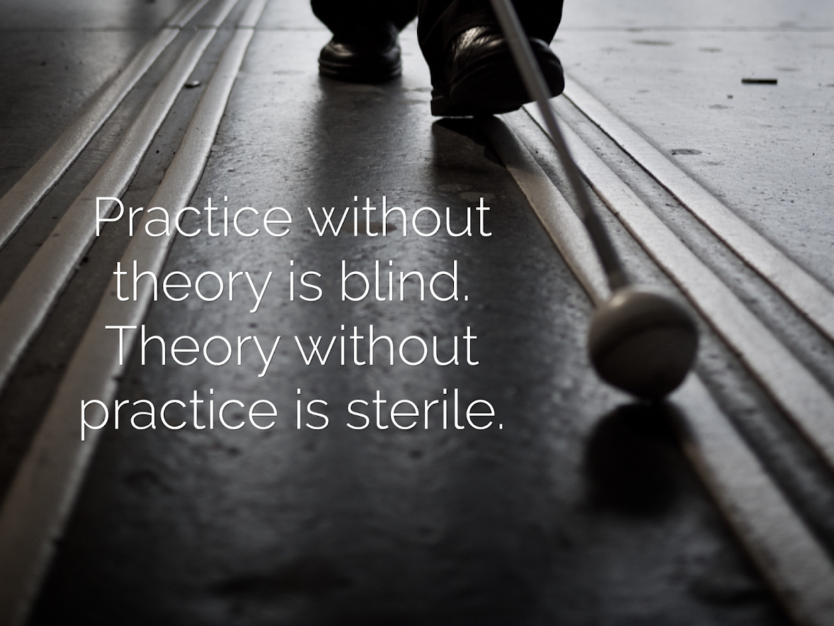 Practice without theory is blind. Theory without practice is sterile.