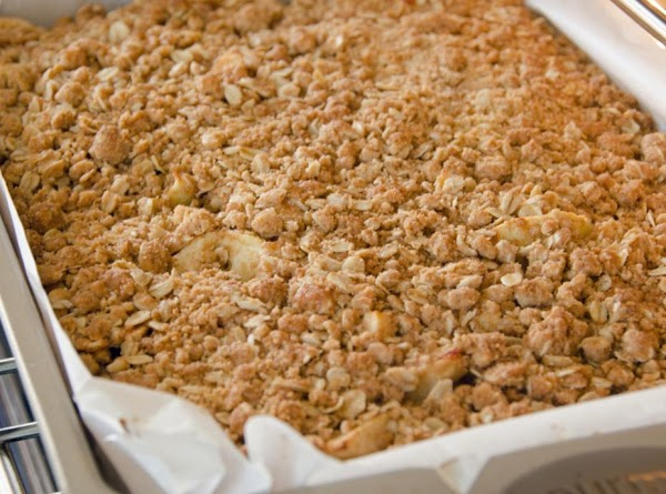 Sprinkle the rest of the crumb mixture over the apples as even as possible.Cover...