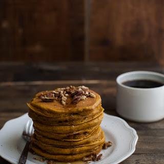Pumpkin Brown Butter Pecan Pancakes