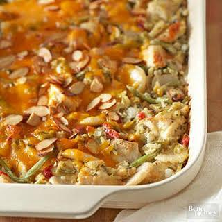 Chicken, Wild Rice, and Vegetable Casserole.