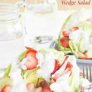 Strawberry, Bacon and Blue Cheese Wedge Salad