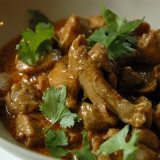 Creamy Indian Curry with Chicken.