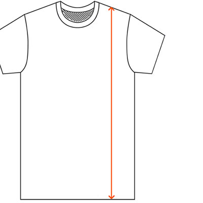 How to find a t-shirt overall length measurement.