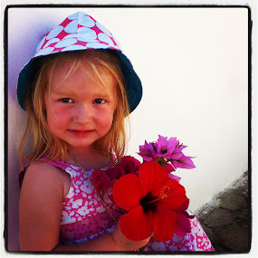 For you by Steve Weston - Instagram & Mobile iPhone ( girl, red, summer, flower, hat )