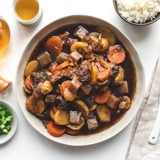 Nikujaga Japanese Beef Stew.