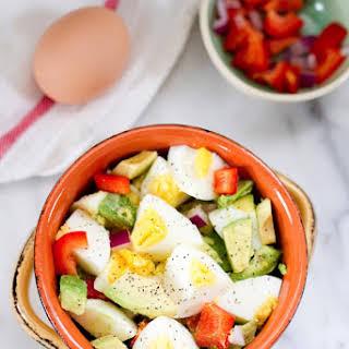 Hardboiled Egg and Avocado Bowl.