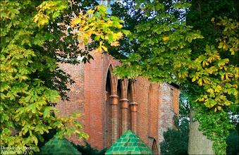 Photo: Dorfkirche im vorpommerschen Dorf Prohn / Groß Mohrdorf bei Stralsund  Sophie E. von Bülow, * 1750, a. d. Hause in Radum, gestorben in Dargun 1834, heiratete F. W. von Kardorff 1770 in Prohn in Pommern, geboren 1741.