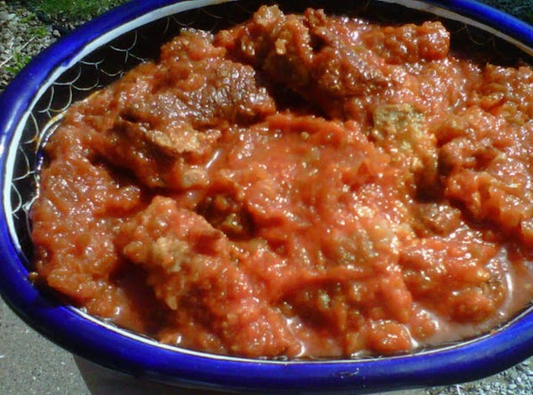 Chicarron En Salsa De Tomate/ Pork Rind In A Tomato Sauce Recipe