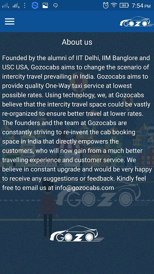 Gozocabs – Inter-City Taxi App- screenshot