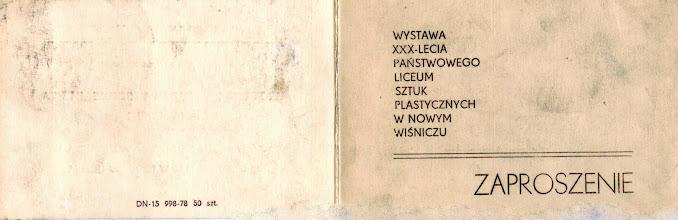 Photo: Zaproszenie na wystawę XXX-lecia PLSP