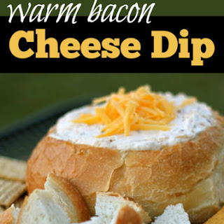 Warm Bacon Cheese Dip in Sourdough Recipe