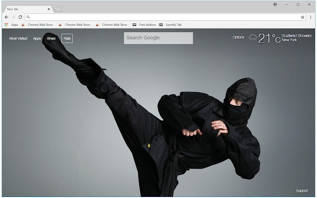 Ninja HD Wallpapers Shinobi New Tab Themes