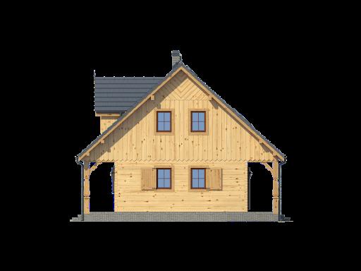 Dom mazurski dw - Elewacja prawa