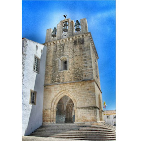 Bell tower of Faro cathedral by Mik Oliver - Buildings & Architecture Places of Worship ( instasize, portugal, faro, streetphotography, architecture, architectureporn, cathedral, catholic, snapseed, camera360, travel, religion, religious, travellingtattooist, inkedmik, belltower )