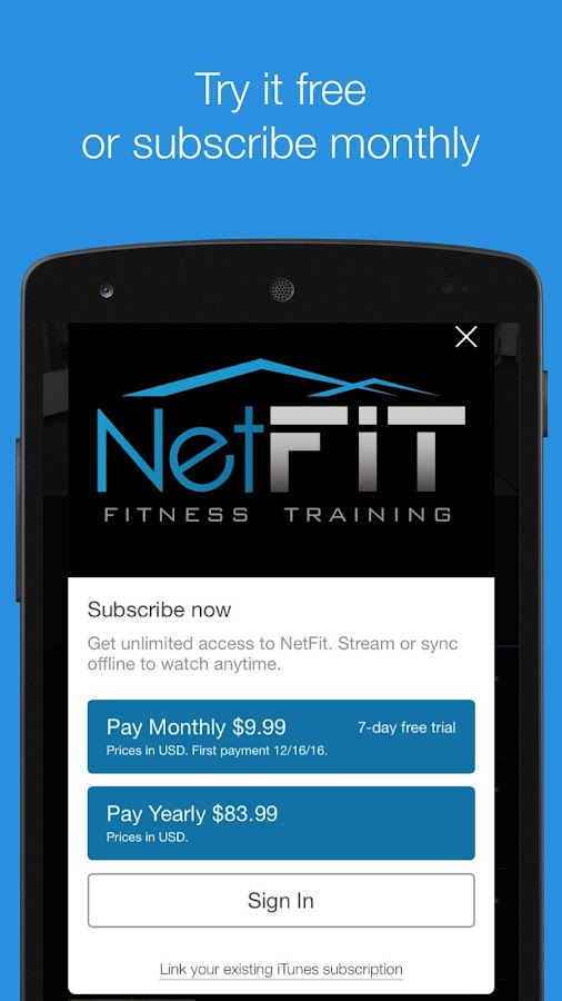 NetFit- screenshot