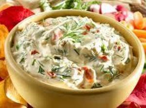 Mix mayo, cream cheese and Hidden Valley mix. Then fold in remaining ingredients. Refrigerate...