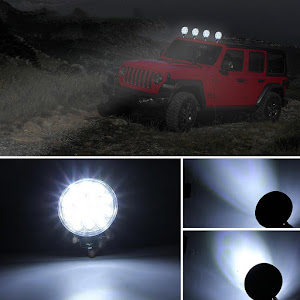 Set 2 proiectoare LED BAR, OFF ROAD, rotund, 9 LED, 27 W, 11 cm