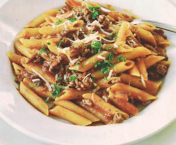 Penne With Meat Ragu