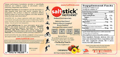 SaltStick Fastchews Chewable Electrolyte Tablets: Bottle of 60, Perfectly Peach alternate image 0
