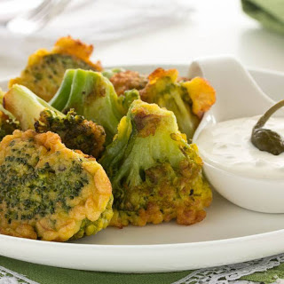 Cheese Broccoli Fritter Recipe (Pakora) (Non Fried)