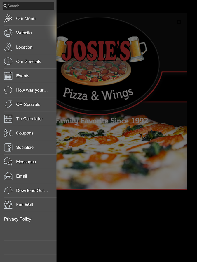 Josie's Pizza and Wings- screenshot