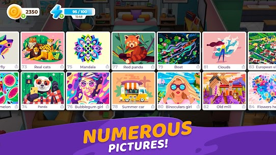 Gallery: Coloring Book by Number MOD APK [Unlimited Boosters] 5