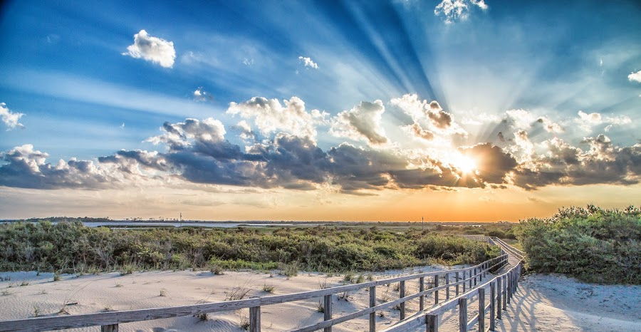 Lets Take A Walk by Tyrone Singletary - Landscapes Sunsets & Sunrises ( clouds, sand, sky, nature, sunset, beach,  )