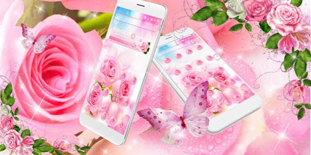 Shiny Pink Rose Theme – Apps on Google Play
