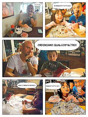 """La mia vita in un fumetto """"Al ristorante"""" di ElianaRonzullo"""