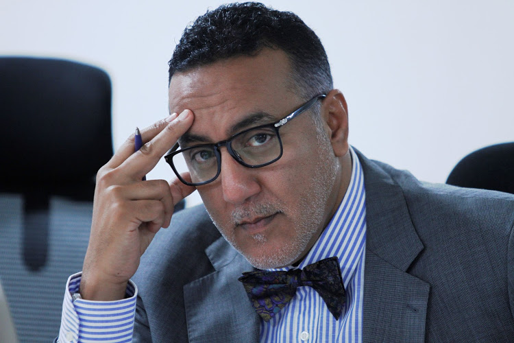 Tourism CS Najib Balala when he appeared before Senate Trade and Tourism committee on July 2, 2019. Image: FILE