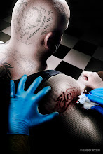 Photo: Completing the full sleeve... ouch.  This was a fun shot, we actually shot this one outside on a nice sunny day using our buddy +Sean Hoffman who was perfectly buff, huge, and bald for us. Hands shot separately and added in post along with tattoos.  #PlusPhotoExtract #photography #potd #photoshop #elevendyisamazing #ouchtattooshurt