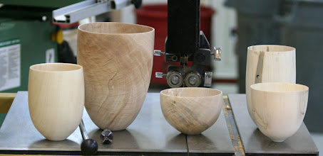 Photo: Mike Kehs started off the demo by passing around some examples of what he means by Very Thin-Walled Vessels and ...