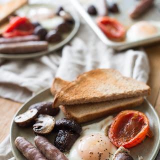 "Sheet-Pan ""Half English"" Breakfast."