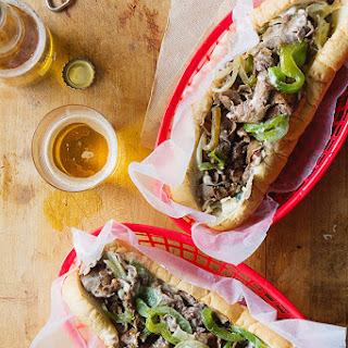 Philadelphia Cheese Steak Sandwich.